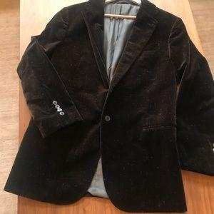 Armani Collezioni Brown velvet blazer